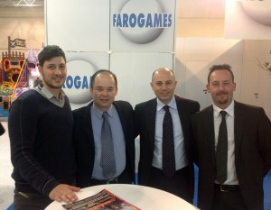 Luca, Mariano and Antonio from Faro Games with Steven Tan