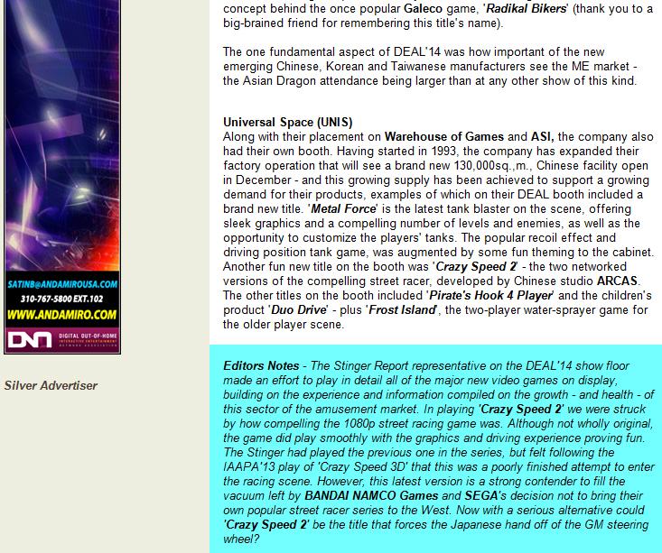 Stinger Report 23rd June 2014