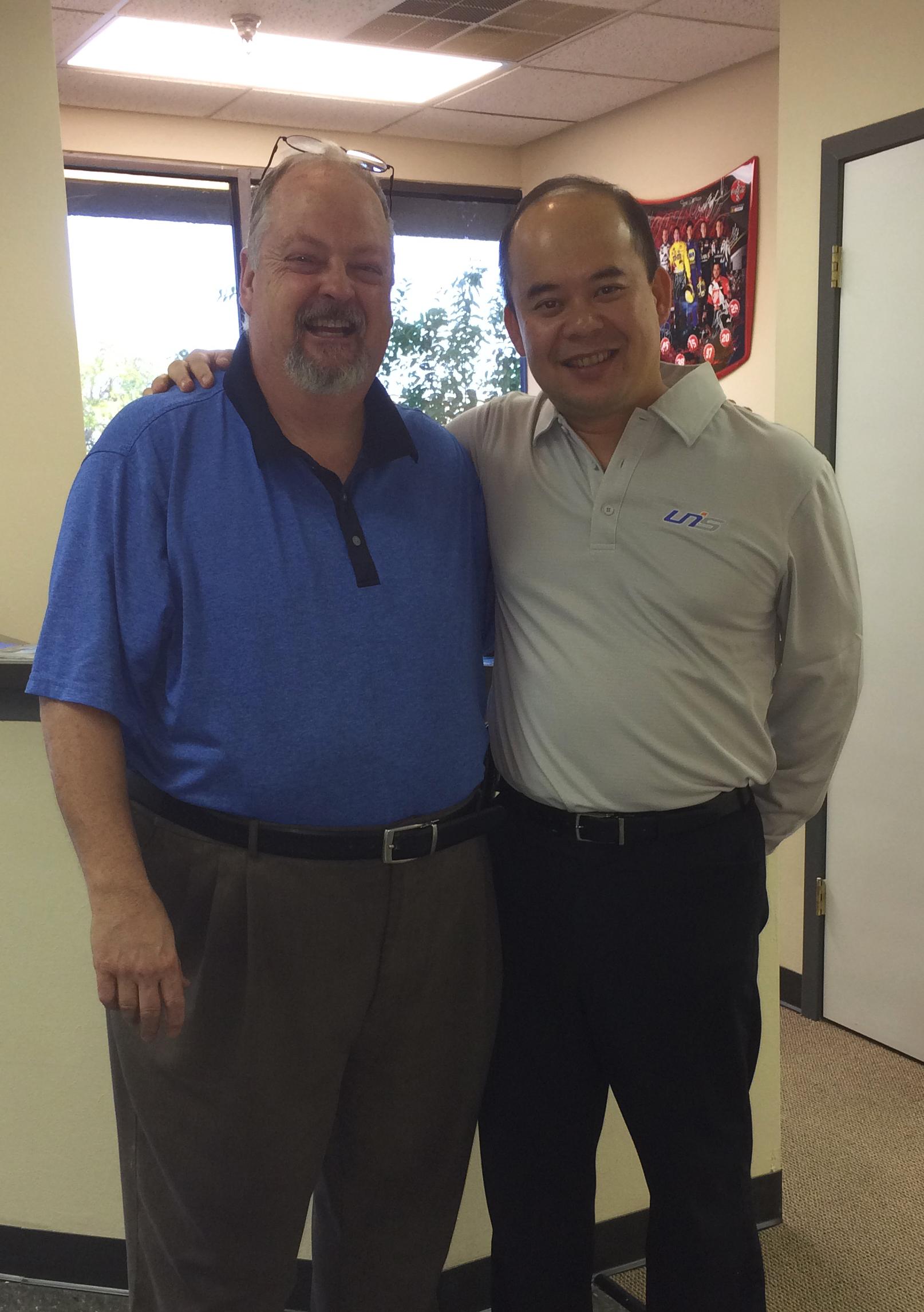 Steven Tan and Jim Pinkston