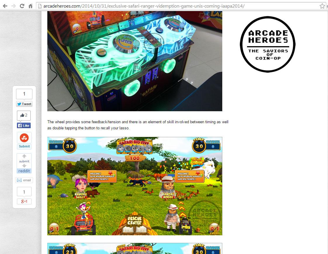 screenshot of arcade heroes