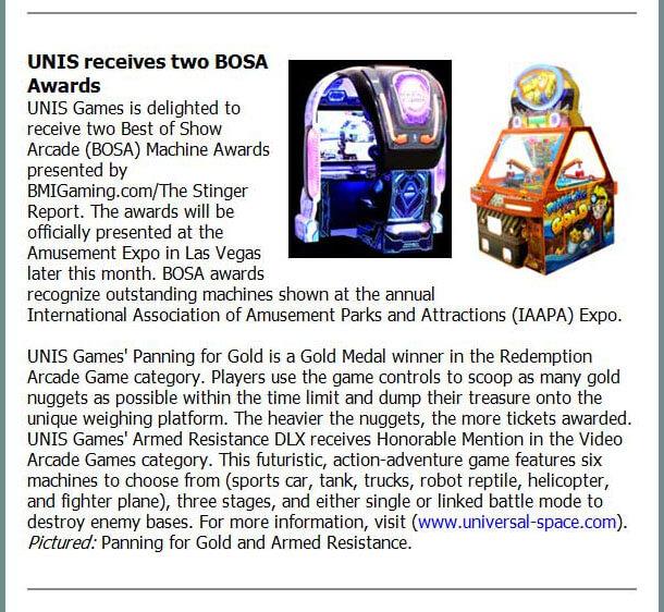 playmeter online Bosa awards