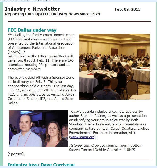 FEC Dallas Underway – Playmeter