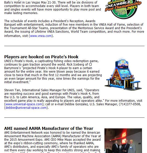 Playmeter Newsletter – Pirate's Hook