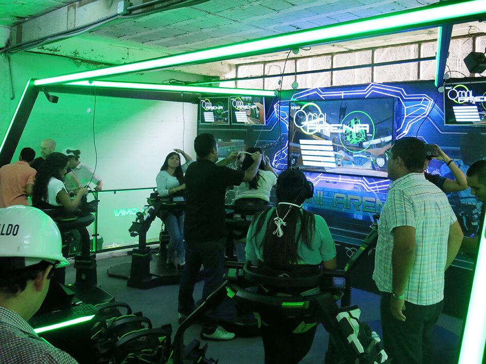 Omni Arena (5-Player) installation in Lima, Peru.
